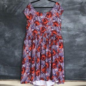 eshakti Dresses - ESHAKTI   Floral Leaf Shift Dress Custom Size Mod